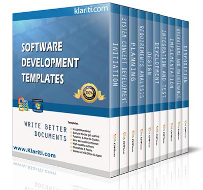 software development template kit 30 ms word excel visio templates. Black Bedroom Furniture Sets. Home Design Ideas